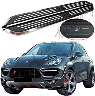 king of car tuning Stainless Steel Running Boards Side Steps Nerf Bars Fits for Porsche Cayenne 2012-2017