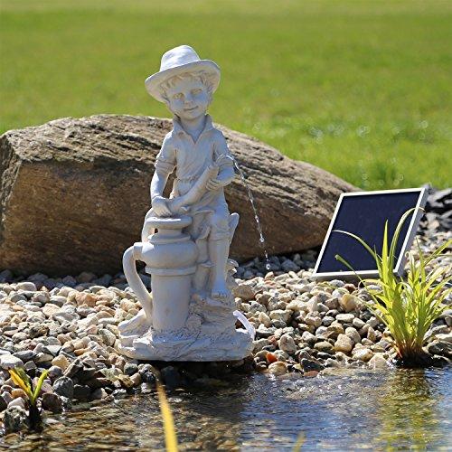 CLGarden Solar Wasserspeier Bübchen Wasserspiel Springbrunnen für Teich oder Wasserbecken