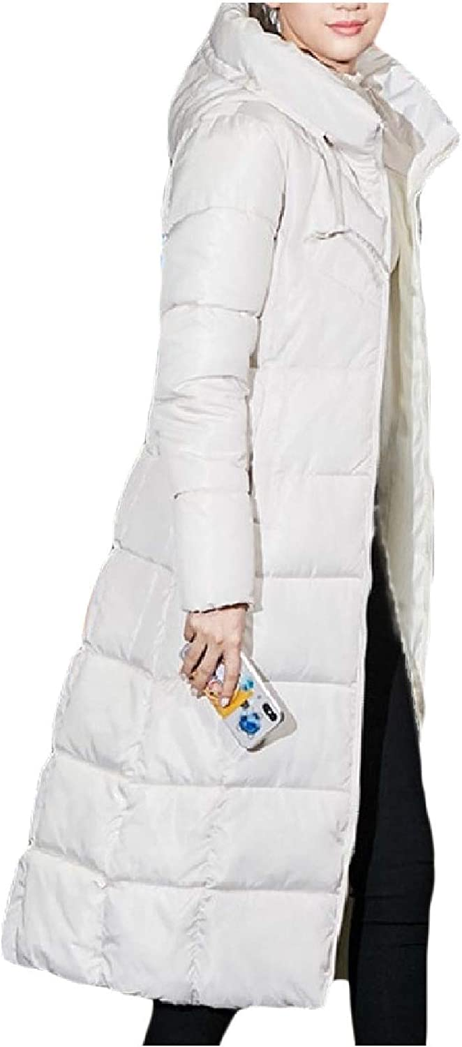 Women Trench Quilted Hooded Coat Trim-Fit Puffer Thick Anorak Jacket