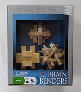 Brain BENDERS 3 Solid Wood Puzzles by Cardinal Industries