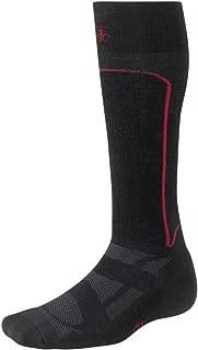 SmartWool Men's Light Cushion Performance Ski Socks, Black/Red, Large