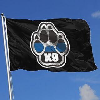 Zudrold Banderas al Aire Libre Policía K9 Bandera Delgada línea Azul para fanático de los Deportes Fútbol Baloncesto Béisbol Hockey