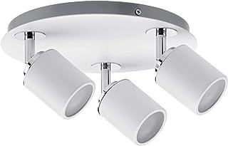 Paulmann 66719 Spotlight Tube IP44 Rondell max 3x10 W GU10 biały/chrom 230 V metal 667.19 lampa sufitowa LED lampa sufitow...