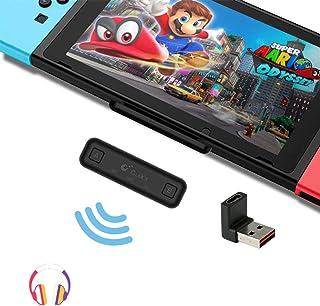 Gulikit Nintendo Switch Bluetoothオーディオアダプター Route Air Pro ニンテンドースイッチブルートゥースイヤホンBluetoothトランスミッター Nintendo Switch PS4 Switc...