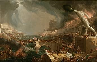 YCC Course Of Empire Destruction, Thomas Cole Canvas Art Print, Size 24x36, Non-Canvas Poster Print