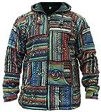Chaqueta con capucha de algodón para hombre, de SHOPOHOLIC FASHION multicolor XX-Large