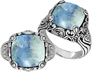 Sterling Silver Ring with Rainbow Moonstone Quartz AR-6227-RM-9