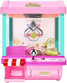 The Toy Grabber Claw Machine for Kids,Indoor Arcade Games,Ideal for Use with Small Toys/Candy,Features LED Lights and Sound Effects,Mini Candy Claw Toys for 1 2 3 4 5 Year Old Boys Girls Best Gift