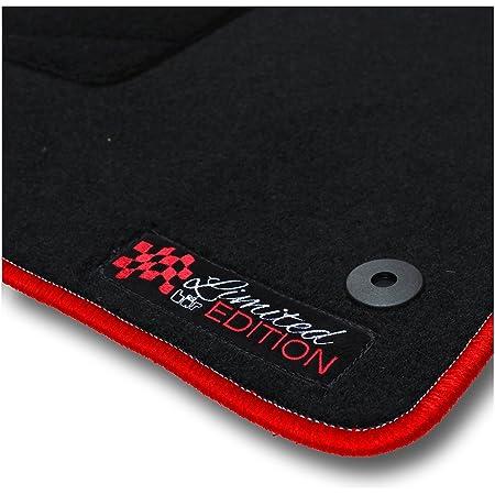 Bär Afc Ni02490 Limited Edition Auto Fußmatten Nadelvlies Schwarz Rand Kettelung Rot Stick Logo Rot Set 4 Teilig Passgenau Für Modell Siehe Details Auto