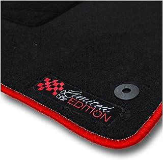 Bär AfC MB02162 Limited Edition Auto Fußmatten Nadelvlies Schwarz, Rand Kettelung Rot, Stick Logo Rot, Set 4 teilig, Passgenau für Modell Siehe Details