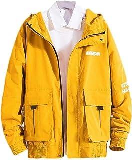 neveraway Mens Outdoors Flexible Fit Hooded Windbreakers Thin Coat Jacket