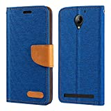 Lenovo C2 Case, Oxford Leather Wallet Case with Soft TPU