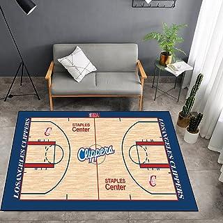 Tritow USA NBA Basketball Tapis NBA Clippers Salon Tapis antidérapant Facile à Nettoyer Tapis de Zone d'impression 3D Tapi...