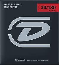 Dunlop DBS30130 Stainless Steel Bass Strings, Medium, .030–.130, 6 Strings/Set