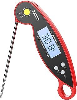 Habor 温度計 料理 防水 クッキング温度計 デジタルキッチン温度計 超高速 2-3秒 折り畳み式 IPX6 防水 速読 ステンレス製 BBQ
