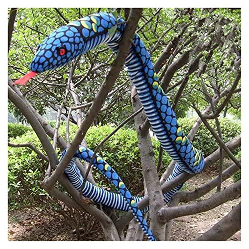 1 unid gran cobra peluche juguete muñeca almohada puntales de horror juguete peluche animales gran tamaño boa serpiente simulación cobra peluche Juguetes de peluche ( Color : Yellow , Height : 280cm )