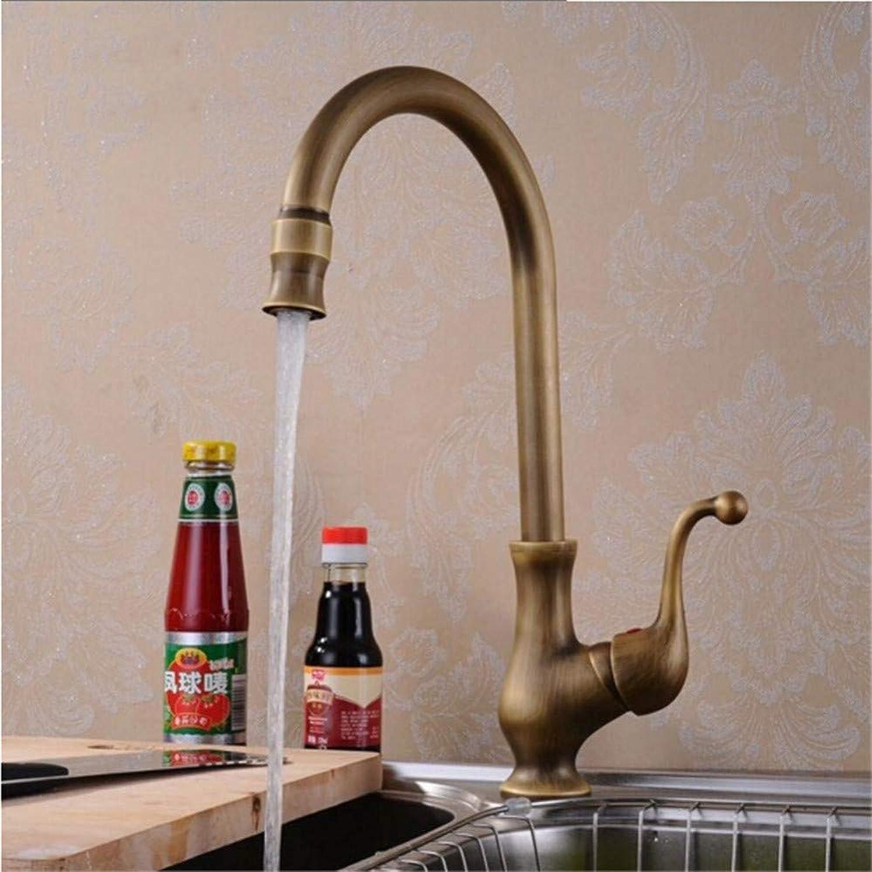 Wasserhahn Küche Waschbecken Badezimmer Messingbronze beendet warme und kalte Spüle Wasserhahn