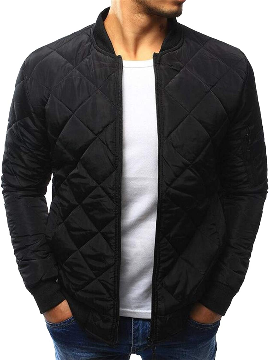 - Fubotevic Fubotevic Fubotevic Men's Fall Winter Quilted Solid Warm Thicken Full-Zip Bomber Jacket Baseball Coat Outerwear 64144a