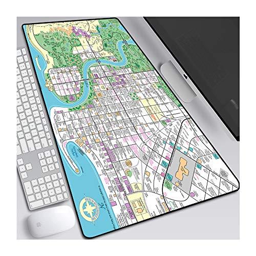 CTRQA Anime Mauspad 900 x 400mm Mausmat, Glatte Texturoberfläche Mousepad, Verschleißfeste Spezialoberfläche, 3 mm Dicke Basis Simpson Familie-T