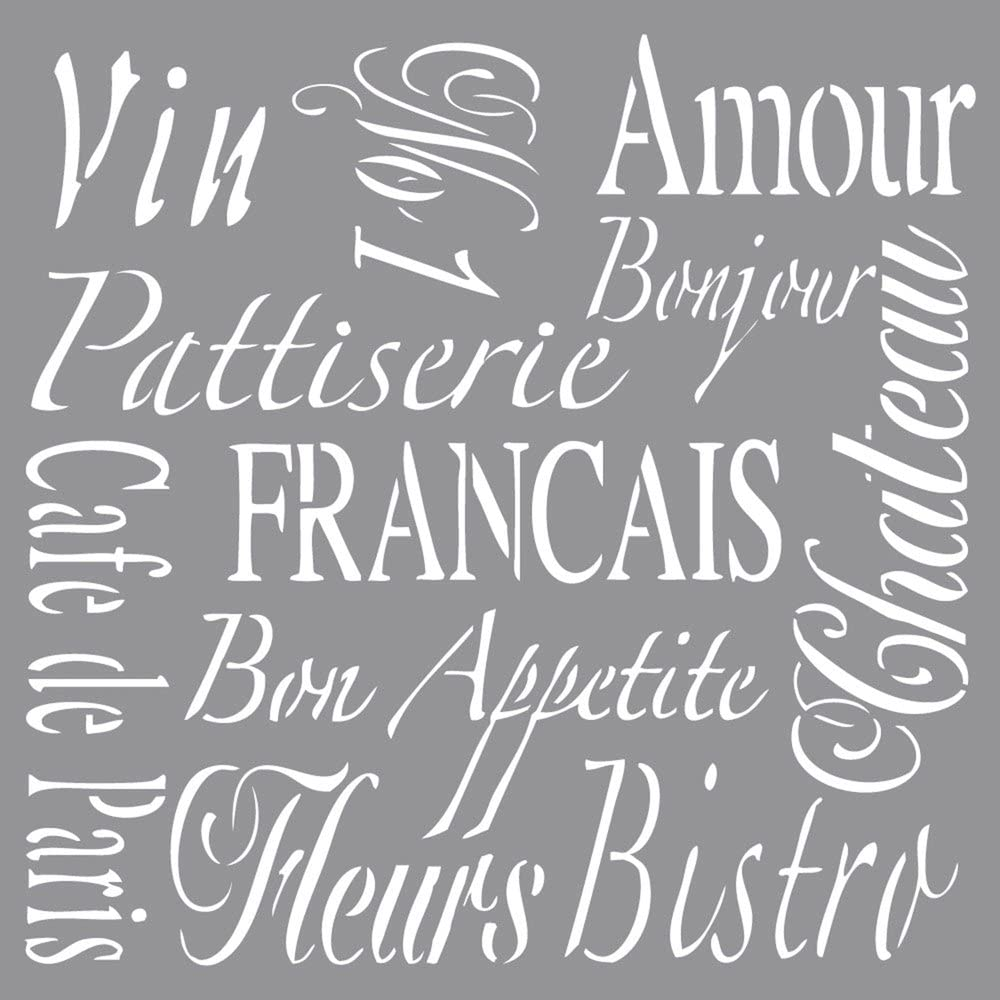 It is very popular Rayher Stencil French Living 30.5x30.5cm 3.25 tab-Bag 1 x NEW before selling pc