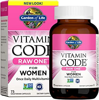 Garden of Life Vitamin Code Raw One for Women, Once Daily Multivitamin for Women - 75 Capsules,...