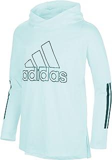 adidas Girls' Long Sleeve Hooded Graphic Tee
