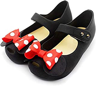 Girls Sweet Mary Jane Flat Princess Sandals Jelly Shoes Toddler Kids Bow Tie with Dots