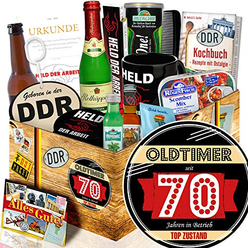 Oldtimer 70 + Geschenke zum 70 Geburtstag + Geschenkset DDR Mann