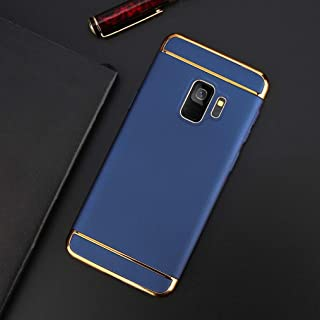 Maxlight Phone Case for Samsung Galaxy S9 S9 Plus Shockproof Armor Protection Cases 3 in 1 Matte Hard PC Cover for Galaxy Note 8 (Navy, for Galaxy S9)