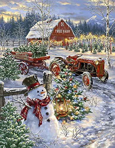 Springbok's 1000 Piece Jigsaw Puzzle Christmas Tree Farm