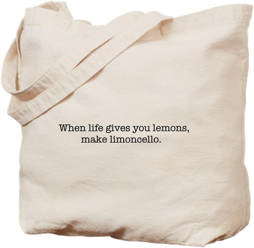CafePress Limoncello Tote Bag Natural Canvas Tote Bag, Reusable Shopping Bag
