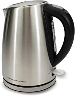 Chef'sChoice 681 Cordless Electric Kettle Handsomely Crafted in Brushed Stainless Steel Includes Concealed Heating Element...
