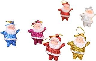 WARMWORD 2019 Navidad Santa Muebles para el hogar Decoración Adornos para árboles Vacaciones Adornos para árboles de Navid...