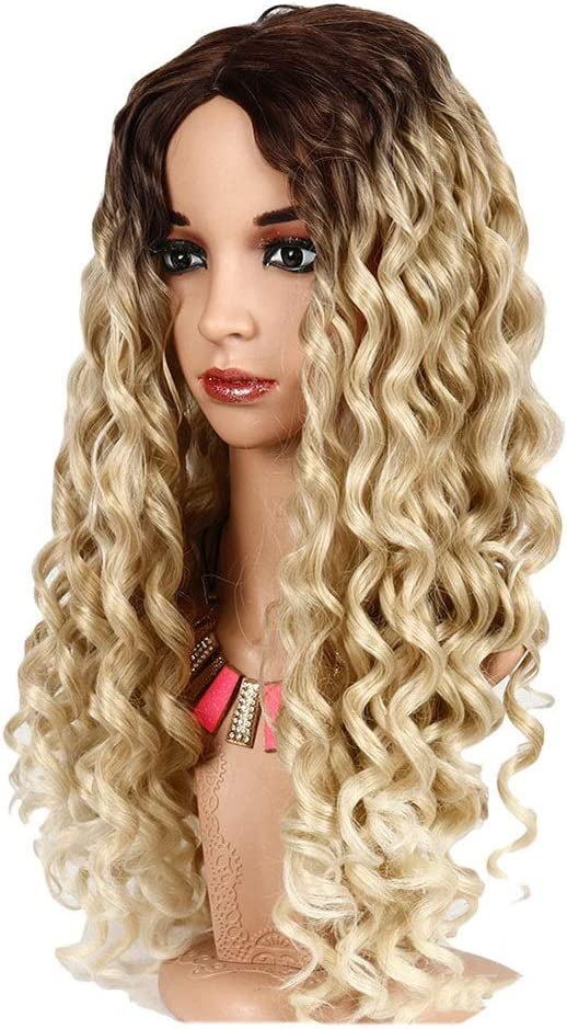 SJY Wig Wigs New product type Africa Volume online shopping Yellow Fashion in Gradient Golden