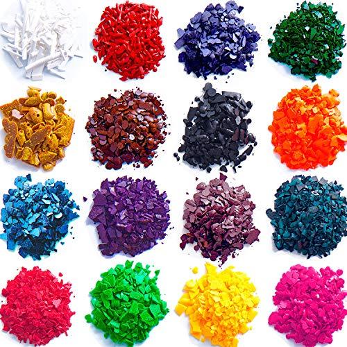 OeyeO DIY Wax Dye 10 Kleuren Candle Dye,Dye Flakes for Candle Make Supplies Kit Ambachten Soja Wax Kaars Kleurstof maken Geurende Kaarsen