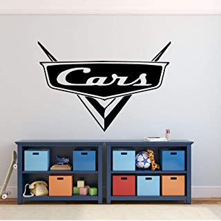Custom Name Cars Decal - Personalized Emblem Wall Decal for Man Cave or Garage - Removable Vinyl Wall Decoration for Boy's or Girls Bedroom, Playroom, Gameroom or Office
