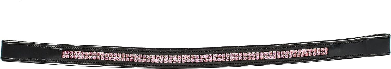 Max 66% OFF Harmohn Kraft HK Americana Easy-to-use Double Pink Row Browband Crystal