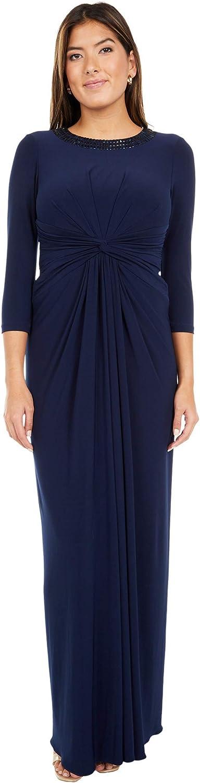 Adrianna Papell Women's Jersey Twist Gown