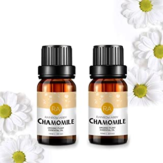 2 Bottles Chamomile Essential Oil 100% Pure Aromatherapy Oil for Diffuser, Perfumes, Massage, Skin Care, Soaps, Candles - ...