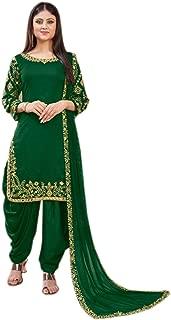 We Designer Indian/Pakistani Ethnic wear Art Silk Patiala Salwar Kameez Ready to wear for Women