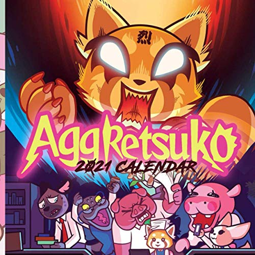 Aggretsuko: Happy New Year 2021 with this small 8.5''x8.5'' Calendar