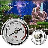 Wosune Medidor de Aire de CO2, Mesa de presión de Aire para Acuario de Peces, medidor de presión para Tanque de Peces, medidor de presión para Tanque de Peces, Acuario