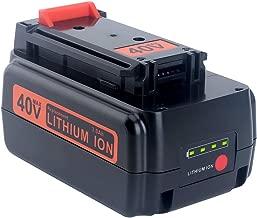 Lasica 3000mAh Replacement Black and Decker 40 Volt MAX Lithium Battery LBXR36 for Black+Decker 36V 40V Max Cordless Tools LSWV36 LCS1240 LST136B LHT2436B LCS1240B 40V Battery LBX2040 LBXR2036 LBX1540