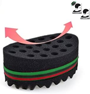 Original Curved Large Holed Twist Hair Curl Sponge Brush Coil Wave for Natural Hair