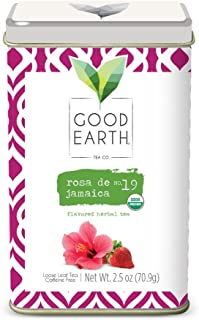 Good Earth Tea Rosa De Jamaica - Lemony tart hibiscus accentuated by bright lemon myrtle and a sweet hint of strawberry - Premium Loose Leaf Herbal Tea From the Creators of Sweet & Spicy Teas