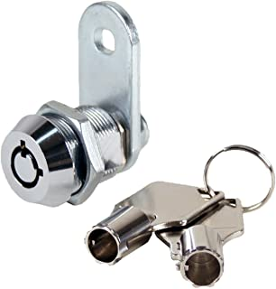 "FJM Security 2400AS-KA Tubular Cam Lock with 5/8"" Cylinder and Chrome Finish, Keyed Alike"