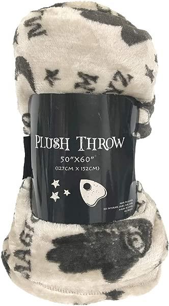 Morgan Home Ultra Plush Fall Halloween Themed Fleece Throw Blanket 50 W X 60 L Ouija Board