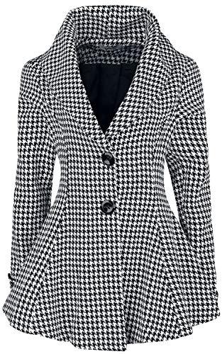 Belsira Premium Vintage Blazer korte jas zwart-wit XXL