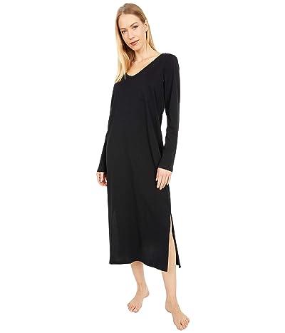 Skin Organic Cotton Clara Sleepshirt (Black) Women