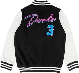 Dwyane Wade World Tour Child Varsity Coat Sports Baseball Jacket for 2-10 Y